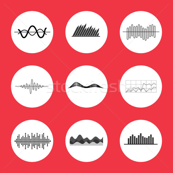Charts, Graphs and Equalizer Interface Icons Stock photo © robuart