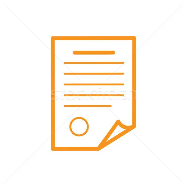 Document Infographic Element Vector Illustration Stock photo © robuart
