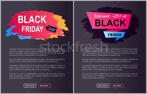 черная пятница продажи На 25 скидка Сток-фото © robuart