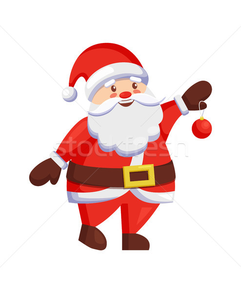 Santa Claus Winter Holiday Ball in Hands Christmas Stock photo © robuart