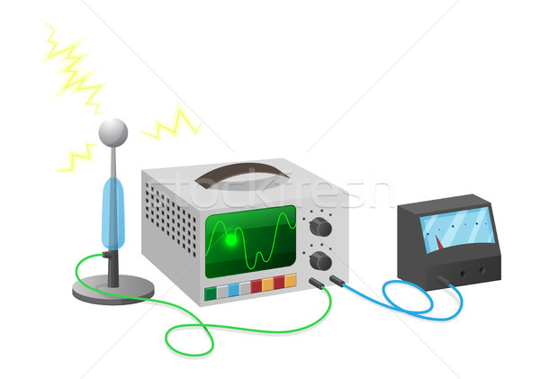 Electronics Special Equipment Connected with Wires Stock photo © robuart