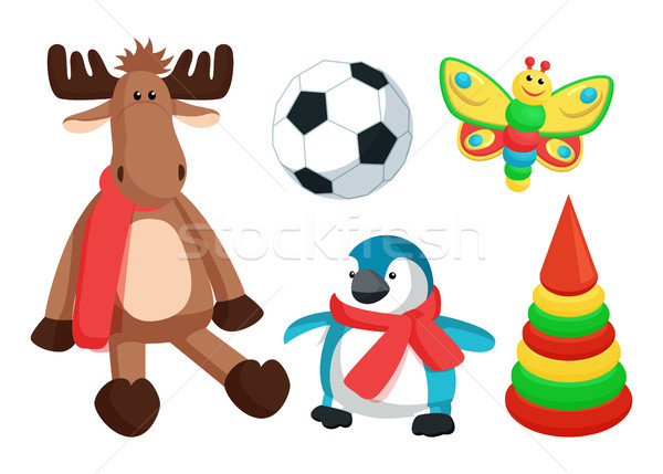Playthings for Kids from Santa Vector Illustration Stock photo © robuart