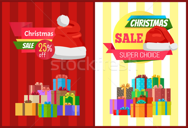 25 off Christmas Sale Super Choice Pposters Label Stock photo © robuart