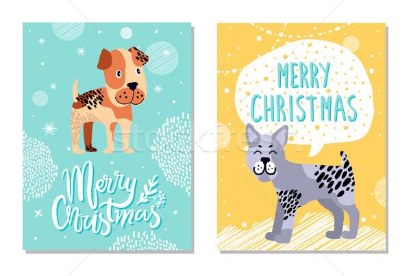 Merry Christmas Calendar Image Vector Illustration Stock photo © robuart