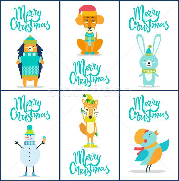 Foto stock: Alegre · Navidad · colección · similar