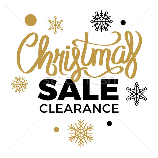 Winter Discounts. Christmas Sale Clearance Logotype Stock photo © robuart
