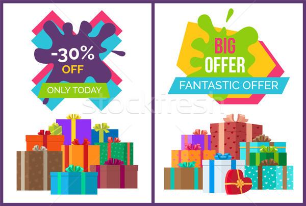 Fantasztikus ajánlat vásár hirdetés árengedmény érték Stock fotó © robuart