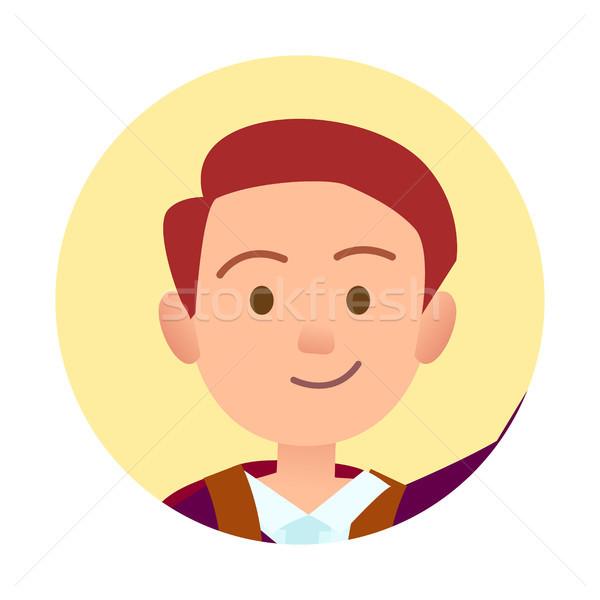 Passaporto foto giovani bell'uomo primo piano bello Foto d'archivio © robuart