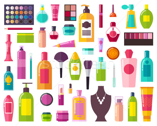 Beauty Means and Decorative Cosmetics Collection Stock photo © robuart
