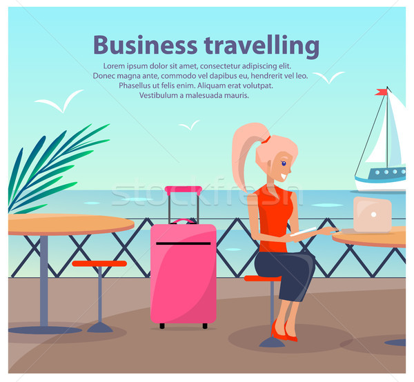 Business Travelling Woman Vector Illustration Stock photo © robuart