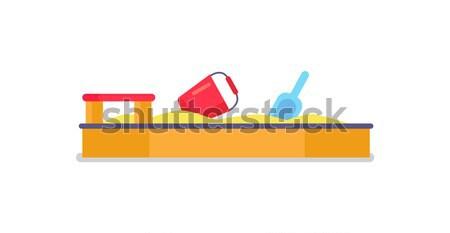 Stock fotó: ágy · piros · pléd · párnák · fehér · kék