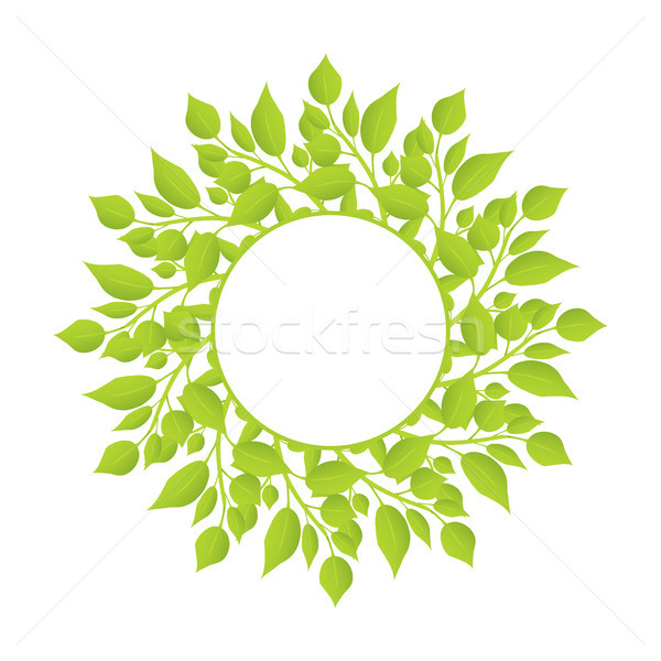 Wreath of Herbal Plants with Thin Stem and Leaves Stock photo © robuart