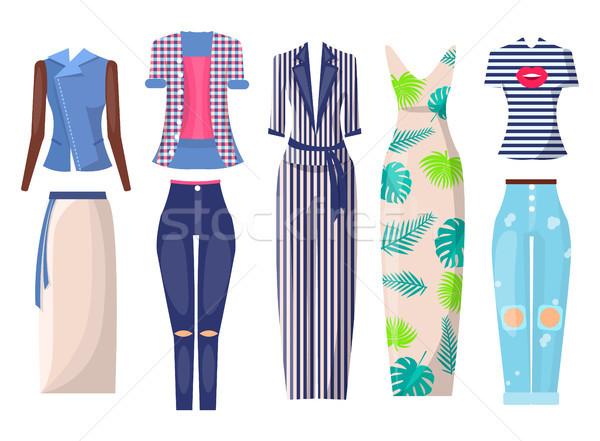 Summer Mode Set of Items, Vector Illustration Stock photo © robuart