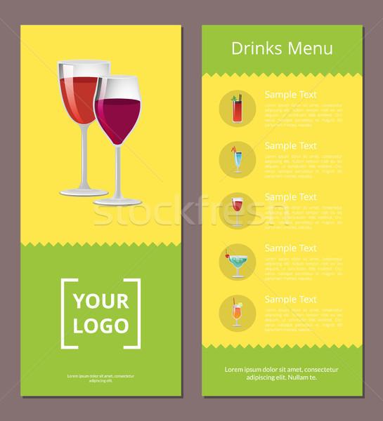 Pić menu reklama plakat projektu alkoholu Zdjęcia stock © robuart