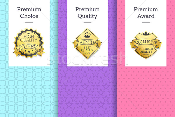 Premium Quality and Choice Set Vector Illustration Stock photo © robuart