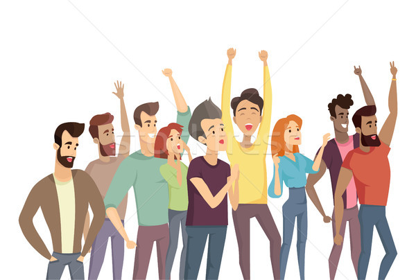 People Crowd and Passtime Vector Illustration Stock photo © robuart