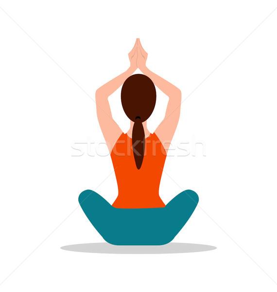 Sitting Position Yoga Pose Vector Illustration Stock photo © robuart