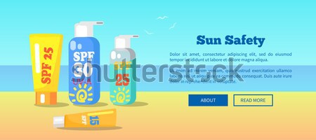 SPF Sun Protection Factor and Labeling Moisturiser Stock photo © robuart