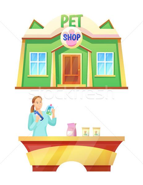 Díszállat bolt pult gyűjtemény klinika állatok Stock fotó © robuart