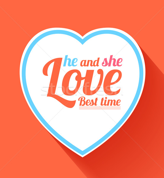 Valentine heart hi and she best time Stock photo © robuart