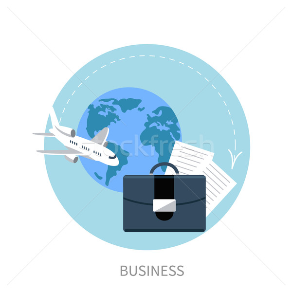 International business travel by airplane Stock photo © robuart