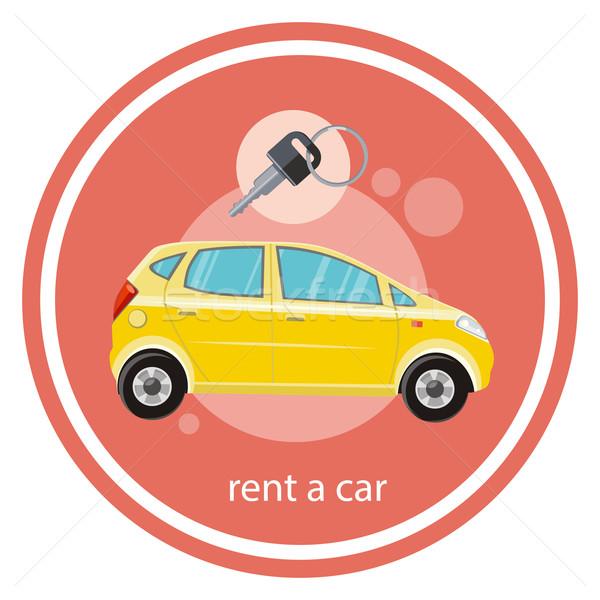 Huren auto Geel ontwerp cartoon Stockfoto © robuart