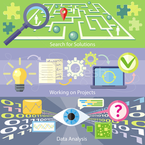 Search for Solution Data Analysis Working Project Stock photo © robuart