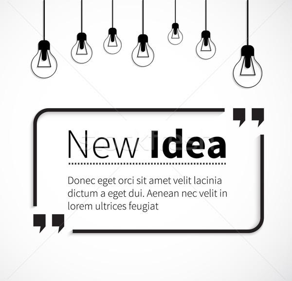 Ifade yeni fikir izolasyon tırnak işareti aktarmak Stok fotoğraf © robuart
