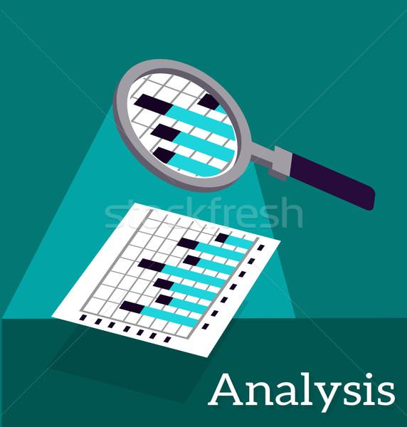 Analysis Infographic and Data Stock photo © robuart