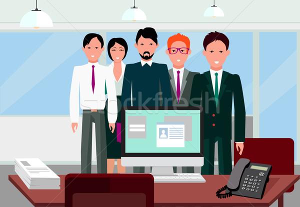 Erfolg Team linear Design Teamarbeit Business-Team Stock foto © robuart