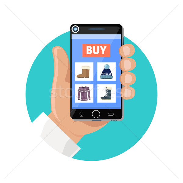 Online Shop Icon Flat. Sale and Buy  Stock photo © robuart