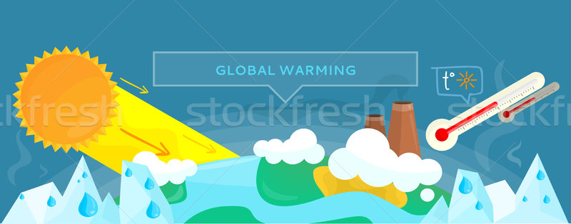 Ecology Banner Concept Global Warming Stock photo © robuart