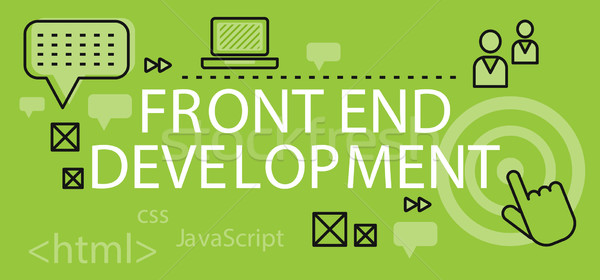 Front end Development Banner Concept Stock photo © robuart