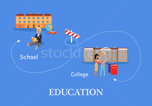Education Process Concept Stock photo © robuart