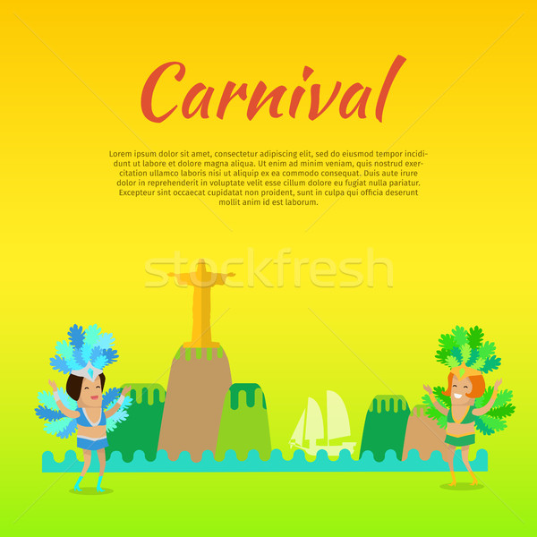 Carnival or Masquerade Brazil Banner Template Stock photo © robuart