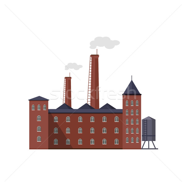 Industry Manufactory Building Isolated on White. Stock photo © robuart