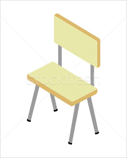 Председатель изометрический проекция мебель фотография веб Сток-фото © robuart