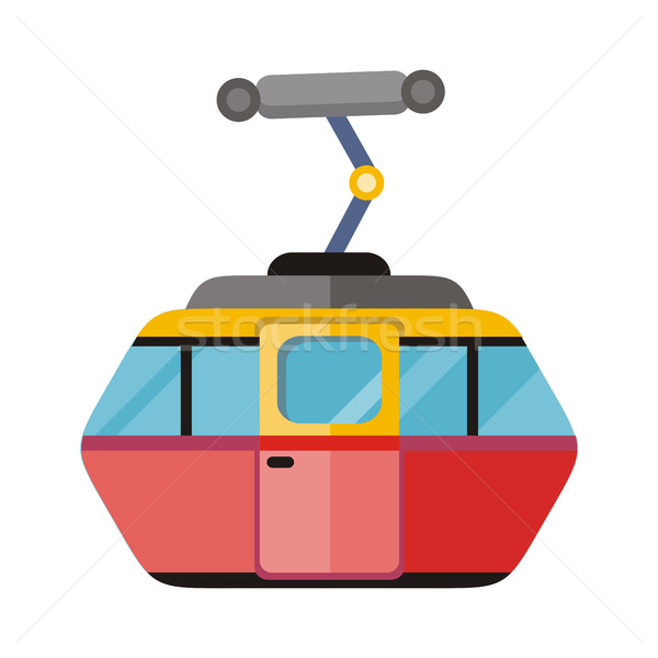 Funicular Railway Cable Car Isolated. Vector Stock photo © robuart