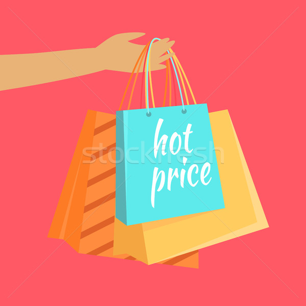 Hot Price Vector Concept in Flat Design Stock photo © robuart