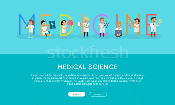 Médecine bannière science alphabet vecteur Photo stock © robuart