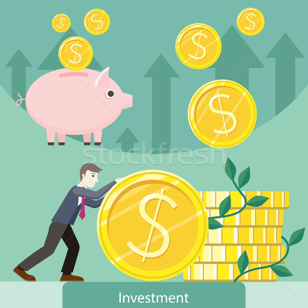 Investment Concept Flat Style Vector Illustration Stock photo © robuart