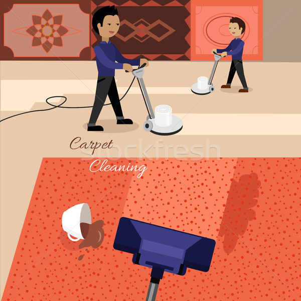 Carpet Cleaning Service Stock photo © robuart