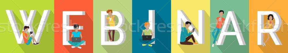 Semineri web çevrimiçi konferans hizmetleri toplantıları Stok fotoğraf © robuart