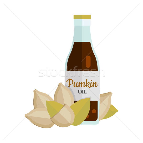 Pumkin Seeds with Pumkin Oil. Stock photo © robuart