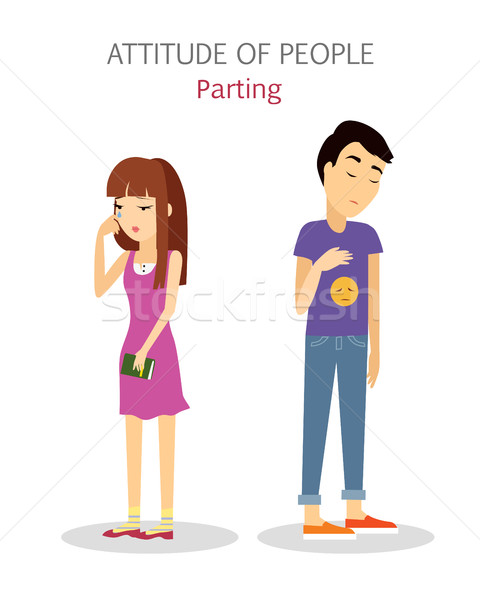 Attitude of People. Parting. Couple Split up. Stock photo © robuart