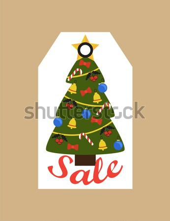 Buying Nice Fir Tree Online on White Background Stock photo © robuart