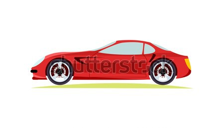 Red Modern Fast Sports Car on White Background. Stock photo © robuart