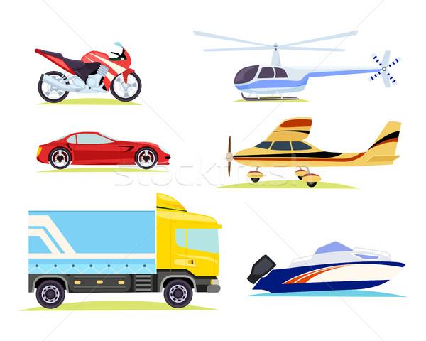 Transporte coleção fotos diferente desenho animado estilo Foto stock © robuart