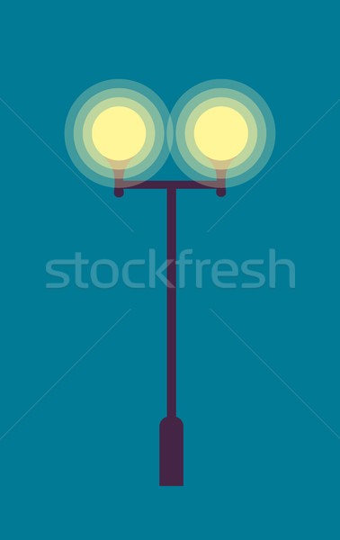 Isolated Street Lamp. Evening. Bright Illumination Stock photo © robuart