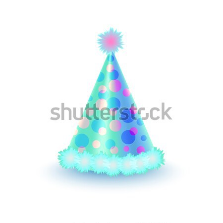 Bright Festive Cap with Purple and Blue Circles Stock photo © robuart